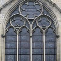 La fenêtre (restaurée) du bras nord du transept (2019)
