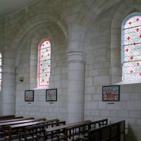 Le mur sud de la nef vu vers le sud-est (2008)
