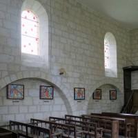 Le mur nord de la nef vu vers le nord-est (2008)