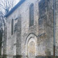 Le mur nord du choeur vu depuis le nord-ouest (1997)