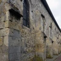 Vue partielle du mur du bas-côté nord depuis le nord-est (2016)