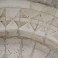 Vue partielle de l'archivolte du portail ouest (2016)