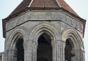 Les parties supérieures du clocher vues du nord (2015)