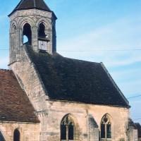Vue partielle de l'église depuis le sud-ouest (1970)