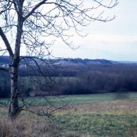Le site de Montmille vue du nord (1973)