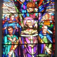 Vitrail de saint Lucien et de ses compagnons Maxien et Julien (2016)