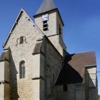 Les parties orientales de l'église vues du nord-est (2017)