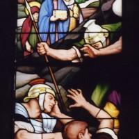 Détail d'un vitrail du choeur (2007)
