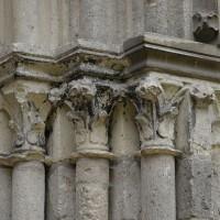 Les chapiteaux des piédroits de droite du portail ouest (2016)