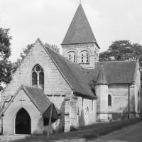 L'église vue du sud-ouest (1974)