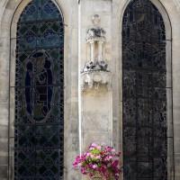 Fenêtres et contrefort-niche de l'abside (2015)