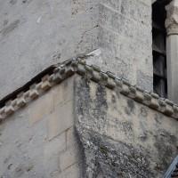 Billettes à la base sud-est de l'étage du beffroi du clocher (2018)