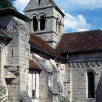 Vue partielle de l'église depuis le sud-ouest (1971)
