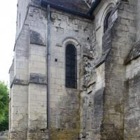 Vue partielle du mur nord de la nef et du bras nord du transept depuis le nord-ouest (2017)
