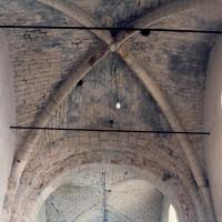 La voûte d'ogives de la dernière travée de la nef vue vers l'ouest (1995)