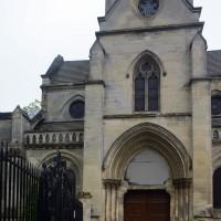 Le parties orientales de l'église vue du nord (2017)