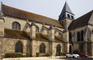 La nef et le transept vus du sud-ouest (2015)
