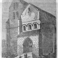 La façade de l'église au 19ème siècle