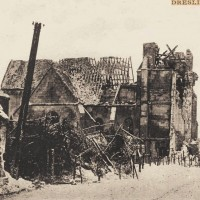 L'église en ruines durant la Grande Guerre