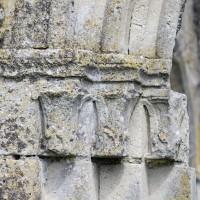 Les chapiteaux des piédroits de gauche du portail ouest (2016)