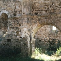 Vue partielle du mur sud du choeur vers le croisillon sud (1995)