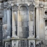 Les piédroits du portail renaissance de la façade ouest (2018)