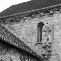 Vue partielle du mur nord de la nef (1990)