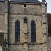 La façade nord du transept du 13ème siècle (2016)