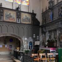 La chapelle seigneuriale et l'autel-retable au nord du choeur (2016)
