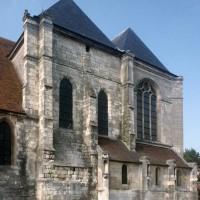 Vue partielle du transept et du choeur depuis le sud-ouest  (1997)