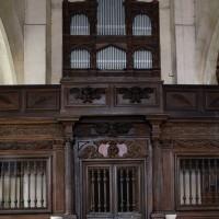 La tribune seigneuriale (?) et l'orgue vus vers l'ouest (2016)
