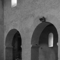 Arcades du mur gouttereau nord vues vers le nord-ouest (1972)