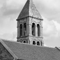 Le dernier étage du clocher vu du sud-ouest (2018)