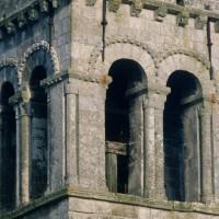 Le dernier étage du clocher vu du nord-ouest (1971)