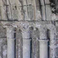 Les chapiteaux du piédroit de droite du portail ouest (2018)
