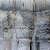 Les chapiteaux des piédroits de gauche du portail ouest (2004)