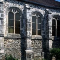 Vue partielle du mur sud de la nef (1996)