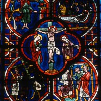 La Crucifixion, détail de la fenêtre centrale du choeur (2000)