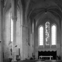 Le bras nord du transept et le choeur vus vers le nord-est