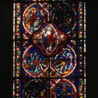 Vitrail de la fenêtre centrale du choeur (2000)