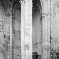 La base de la tour sud vue vers le sud-ouest (1979)