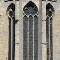 Partie haute des fenêtres de l'abside (2016)