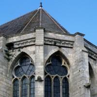 Les parties hautes de l'abside vues du sud-est (1997)