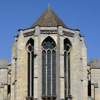 Les parties hautes de l'abside vues de l'est (2016)