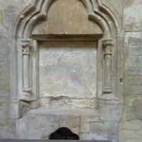Piscine liturgique dans le bas-côté nord (1997)