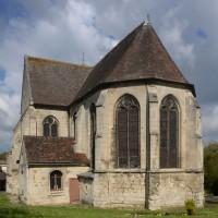 Le choeur et le transept vus du sud-est (2016)