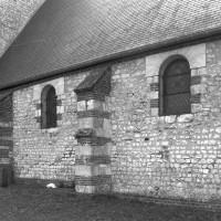 Le mur nord de la nef vu depuis le nord-ouest (1996)