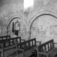 Le mur nord de la nef vu vers le nord-ouest (1995)