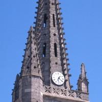 Le dernier étage du clocher et la flèche vus du sud-ouest (1997)