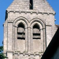 L'étage du beffroi du clocher vu depuis l'ouest (1995)